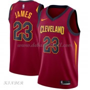 Basketball Trikot Kinder Cleveland Cavaliers 2018 LeBron James 23# Road Swingman..